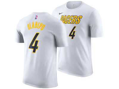 d27cd9331 Indiana Pacers Victor Oladipo Nike 2018 NBA Men s Earned Edition Player T- Shirt