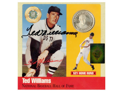 Boston Red Sox Ted Williams Steiner Autographed Coin