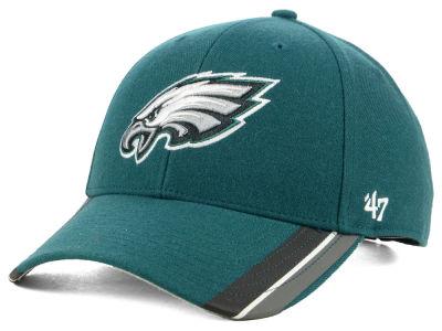 8f882dff614 Philadelphia Eagles  47 NFL Team Visor Stripes MVP Cap