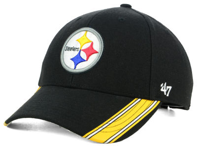 Pittsburgh Steelers '47 NFL Team Visor Stripes MVP Cap