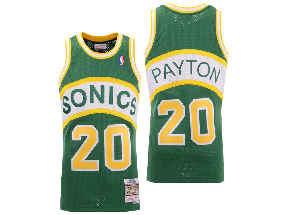 Seattle SuperSonics Gary Payton Mitchell   Ness NBA Men s Hardwood Classic  Swingman Jersey 25648cbd5
