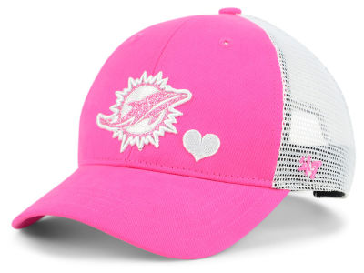 sports shoes 09580 f6fdc ... new style discount code for miami dolphins 47 nfl girls sugar sweet  mesh adjustable cap 05b7a