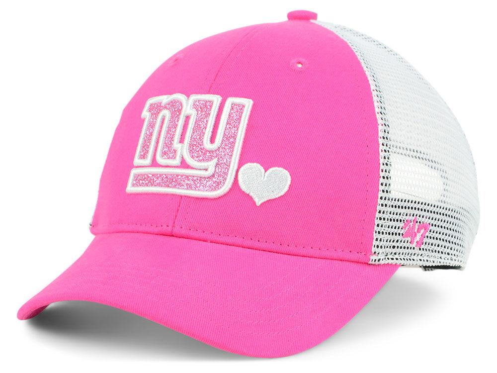 New York Giants  47 NFL Girls Sugar Sweet Mesh Adjustable Cap  ee5d48eba
