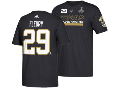 Vegas Golden Knights Marc-Andre Fleury 2018 NHL Men's Stanley Cup Finals Silver Name and Number T-Shirt