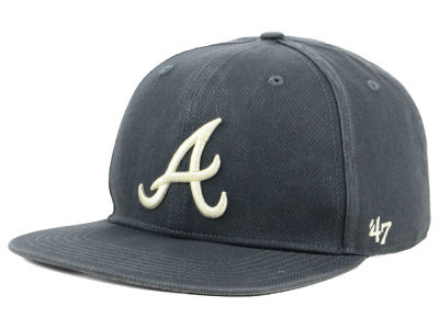 Atlanta Braves '47 MLB Garment Washed Navy Snapback Cap