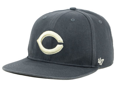 Cincinnati Reds '47 MLB Garment Washed Navy Snapback Cap
