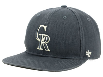 Colorado Rockies '47 MLB Garment Washed Navy Snapback Cap