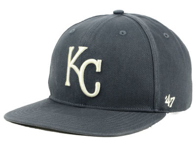 Kansas City Royals '47 MLB Garment Washed Navy Snapback Cap