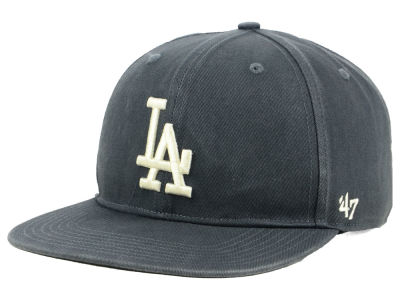 Los Angeles Dodgers '47 MLB Garment Washed Navy Snapback Cap