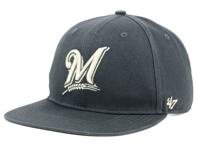 Milwaukee Brewers '47 MLB Garment Washed Navy Snapback Cap