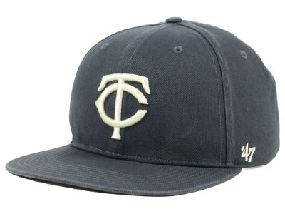 Minnesota Twins '47 MLB Garment Washed Navy Snapback Cap