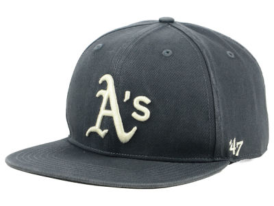 Oakland Athletics '47 MLB Garment Washed Navy Snapback Cap
