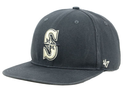 Seattle Mariners '47 MLB Garment Washed Navy Snapback Cap