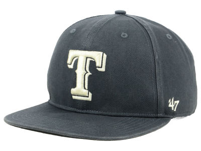 Texas Rangers '47 MLB Garment Washed Navy Snapback Cap