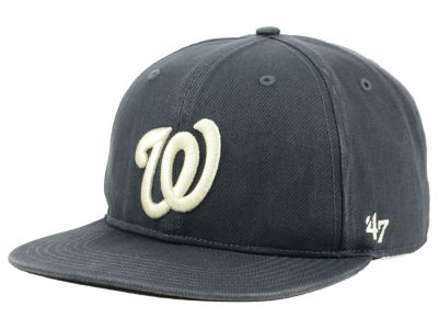 Washington Nationals '47 MLB Garment Washed Navy Snapback Cap
