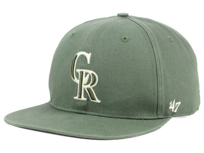 Colorado Rockies '47 MLB Moss Snapback Cap