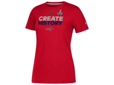 Washington Capitals 2018 NHL Women's Stanley Cup Finals Create History T-Shirt