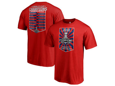 Washington Capitals 2018 NHL Men's Stanley Cup Champ Roster T-Shirt