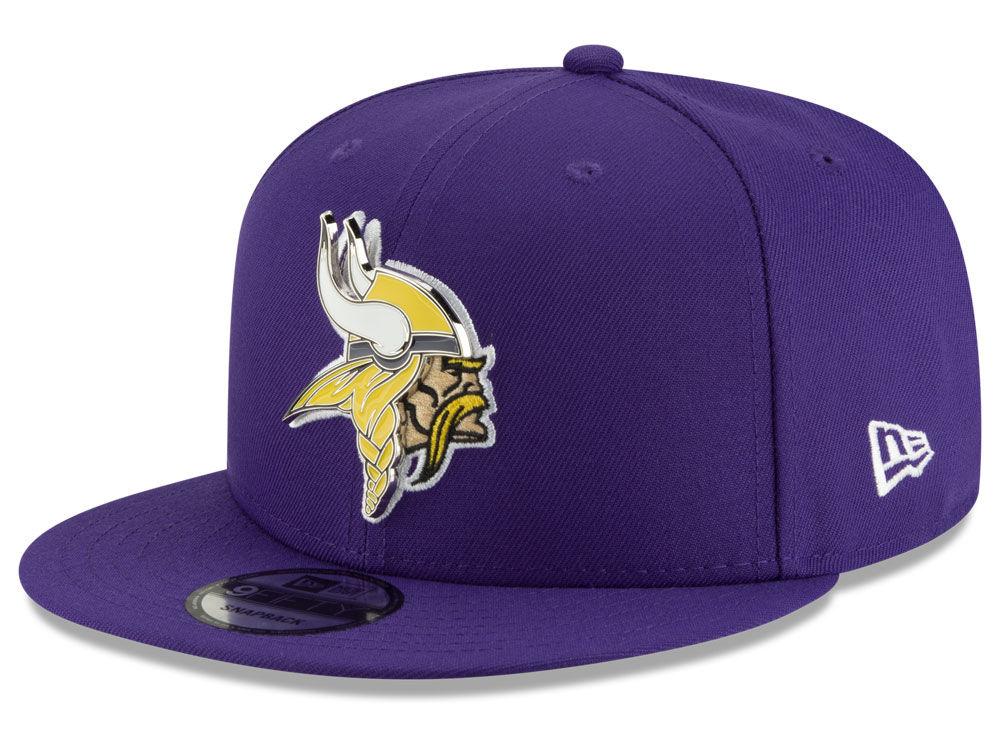Minnesota Vikings New Era NFL Metal Thread 9FIFTY Snapback Cap ... d8ef9029a