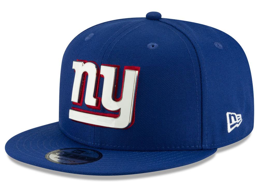 New York Giants New Era NFL Metal Thread 9FIFTY Snapback Cap  a9c980d12fb0