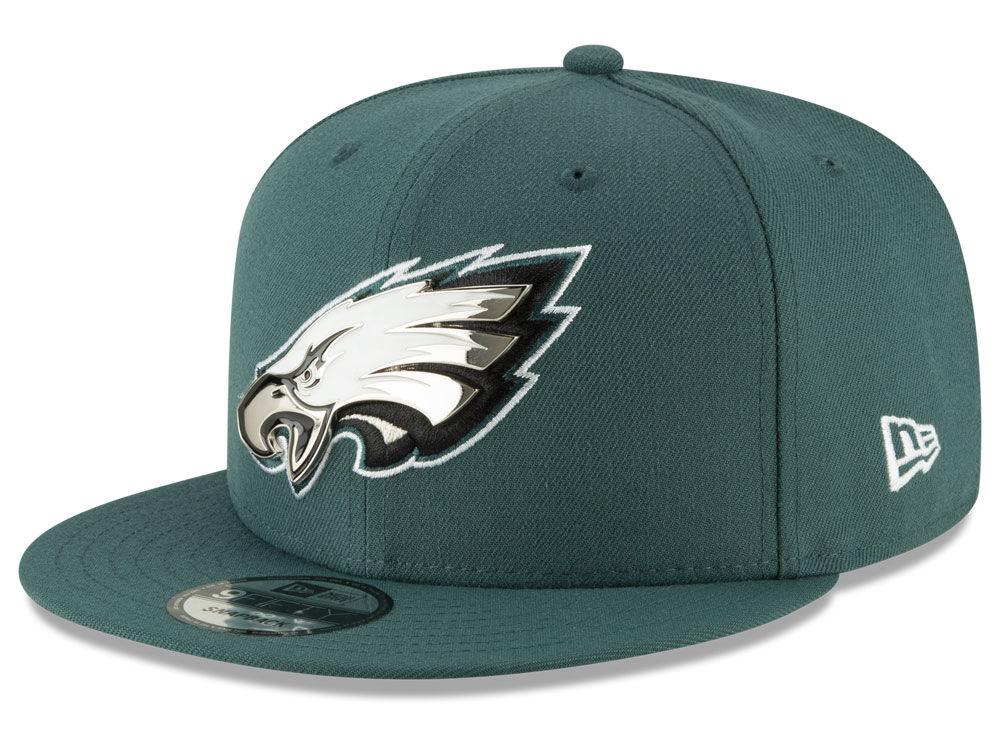 f3055ceb9 Philadelphia Eagles New Era NFL Metal Thread 9FIFTY Snapback Cap ...