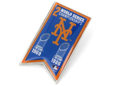 New York Mets Championship Banner Pin