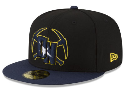 Denver Nuggets New Era NBA Dark City Combo 59FIFTY Cap
