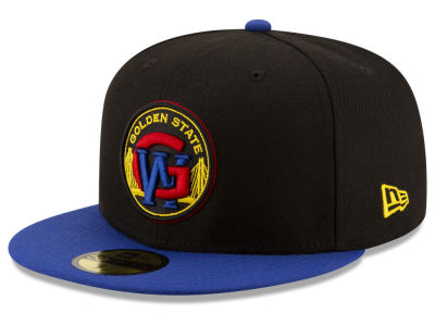 Golden State Warriors New Era NBA Dark City Combo 59FIFTY Cap