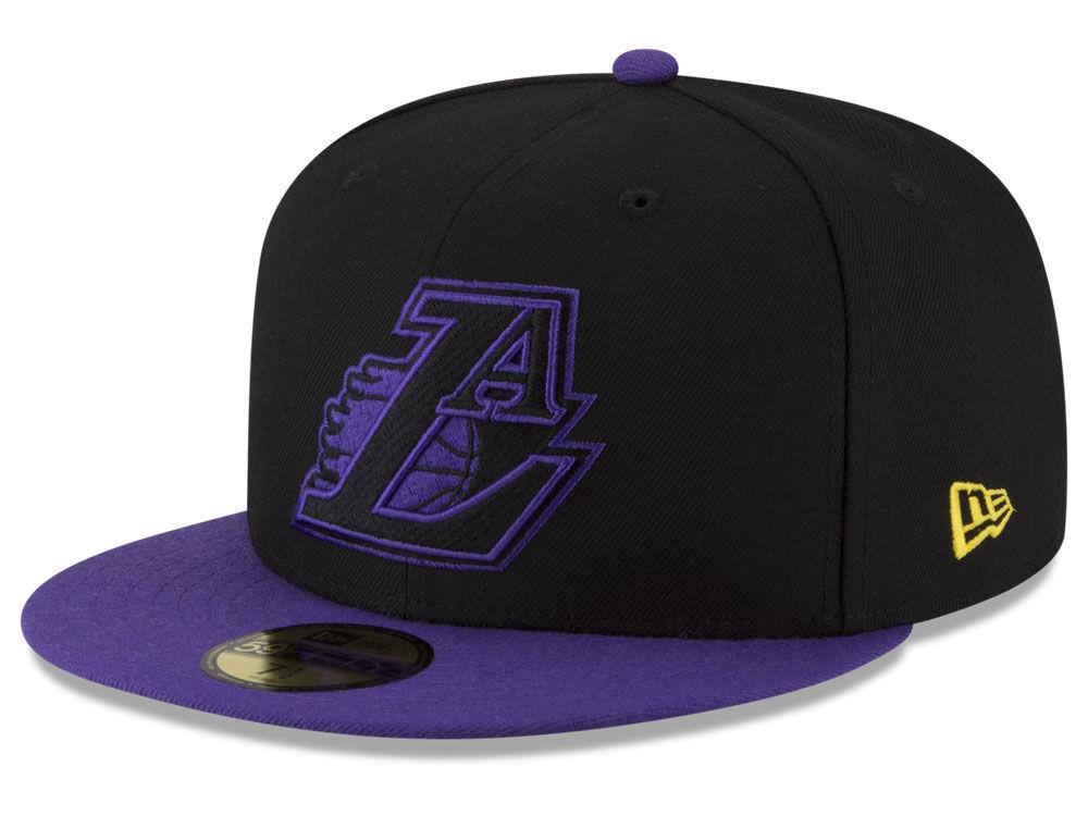 0395945de14 Los Angeles Lakers New Era NBA Dark City Combo 59FIFTY Cap