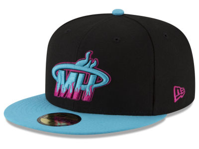 Miami Heat New Era NBA Dark City Combo 59FIFTY Cap