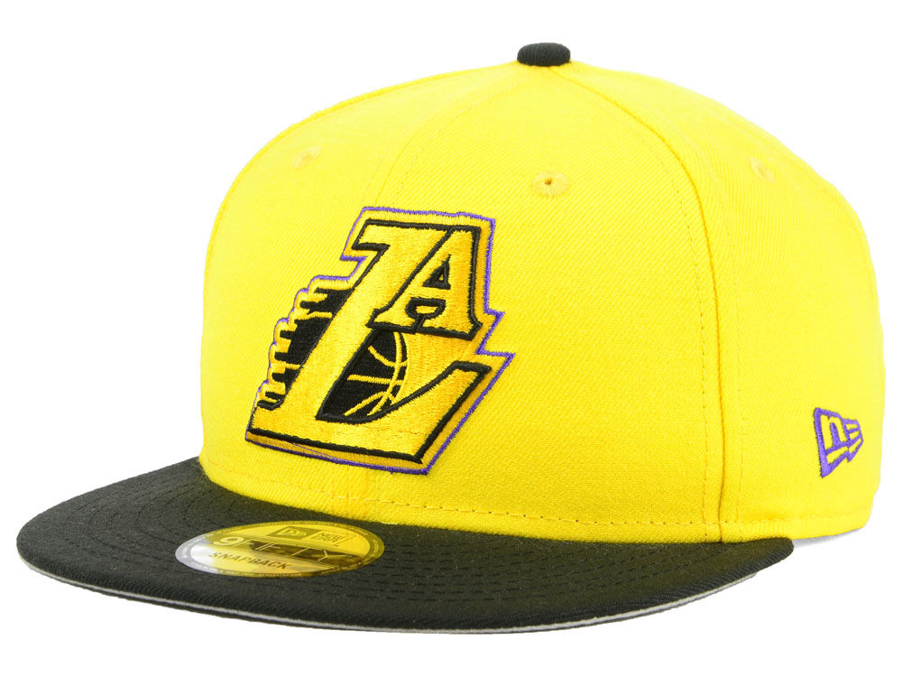 Los Angeles Lakers New Era NBA Light City Combo 9FIFTY Snapback Cap ... 0ba5ae5e2113