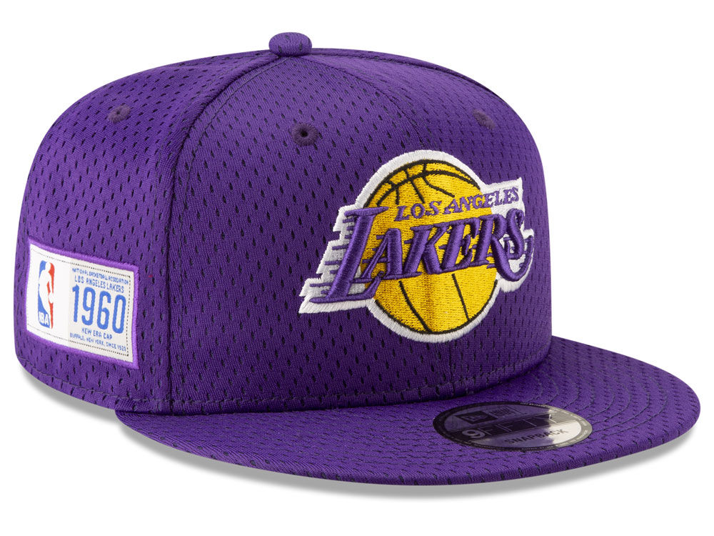dcf0bbe3603 Los Angeles Lakers New Era NBA Jock Tag 9FIFTY Snapback Cap