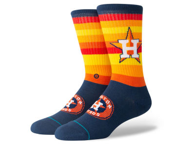 Houston Astros Stance MLB Rainbow Crew Socks