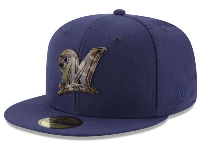 Milwaukee Brewers New Era MLB Camo Capped 59FIFTY Cap