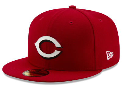 Cincinnati Reds New Era MLB Metal & Thread 59FIFTY Cap