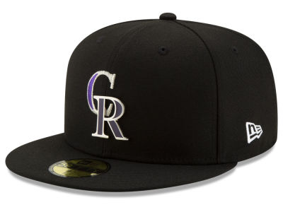 Colorado Rockies New Era MLB Metal & Thread 59FIFTY Cap