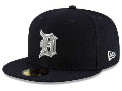 Detroit Tigers New Era MLB Metal & Thread 59FIFTY Cap