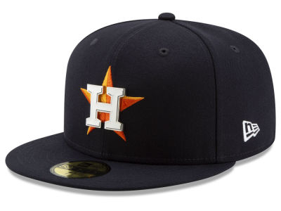 Houston Astros New Era MLB Metal & Thread 59FIFTY Cap