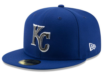 Kansas City Royals New Era MLB Metal & Thread 59FIFTY Cap