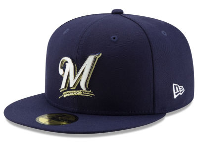 Milwaukee Brewers New Era MLB Metal & Thread 59FIFTY Cap