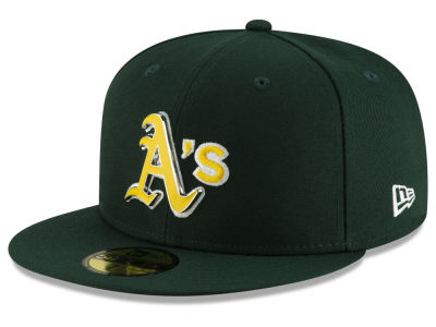 Oakland Athletics New Era MLB Metal & Thread 59FIFTY Cap