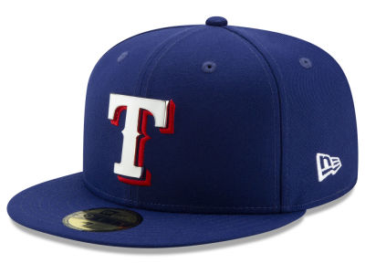 Texas Rangers New Era MLB Metal & Thread 59FIFTY Cap