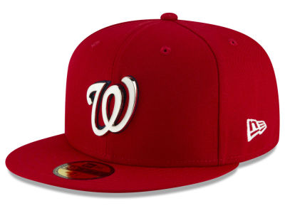 Washington Nationals New Era MLB Metal & Thread 59FIFTY Cap