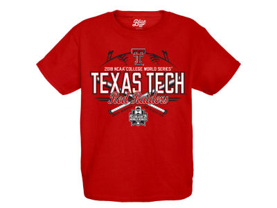 Texas Tech Red Raiders Blue 84 2018 NCAA Youth College World Series Home Team T-Shirt