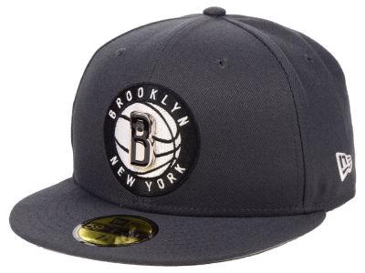Brooklyn Nets New Era NBA Metal Mash Up 59FIFTY Cap a1f782fc293