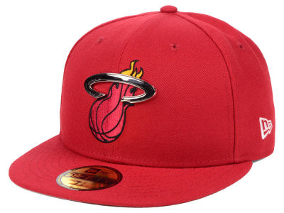 super popular 244b2 5570d Miami Heat New Era NBA Metal Mash Up 59FIFTY Cap