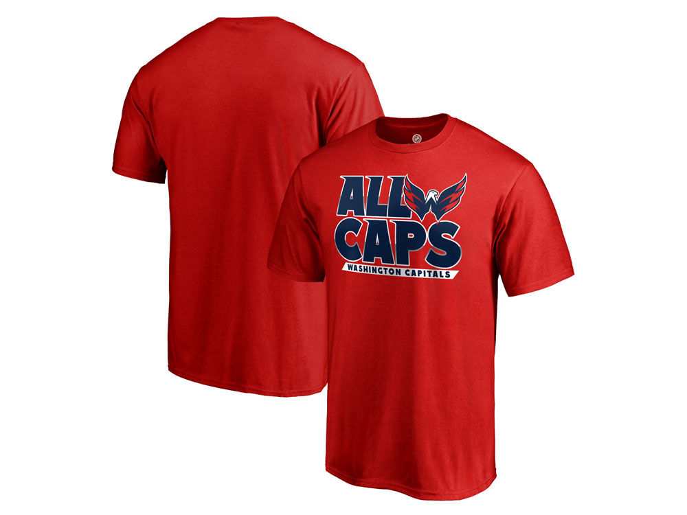 9272e817ad3 Washington Capitals 2018 NHL Men s Playoff Slogan T-shirt