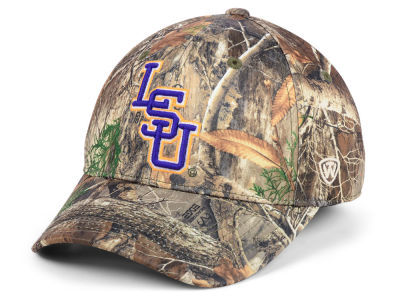 LSU Tigers Top of the World NCAA Berma Camo Flex Cap
