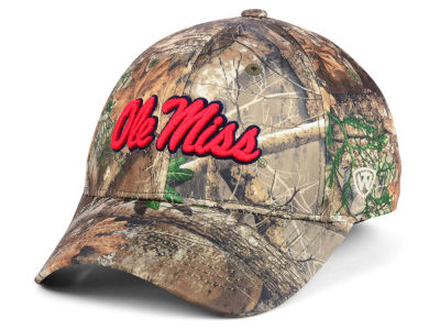 Ole Miss Rebels Top of the World NCAA Berma Camo Flex Cap