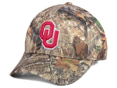 Oklahoma Sooners Top of the World NCAA Berma Camo Flex Cap